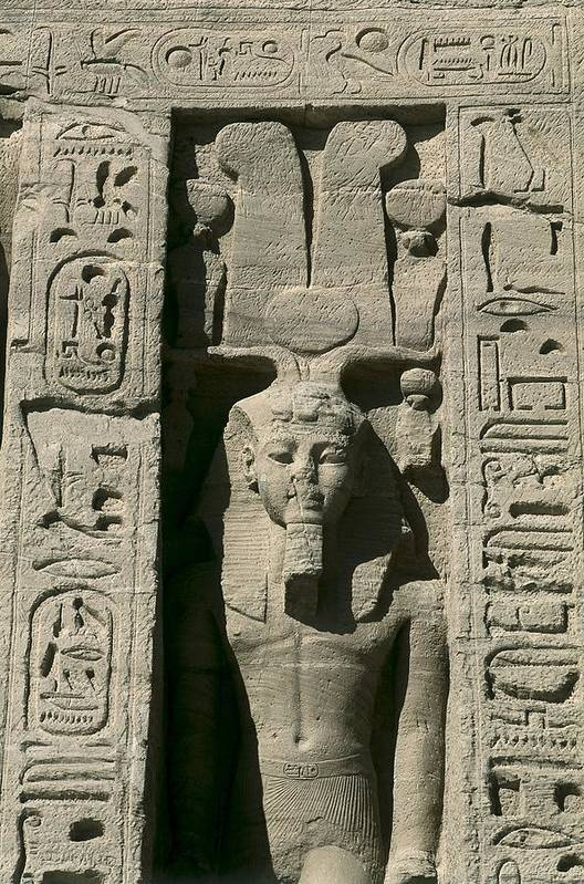 Vertical Poster featuring the photograph Temple Of Nefertari Dedicated by Everett