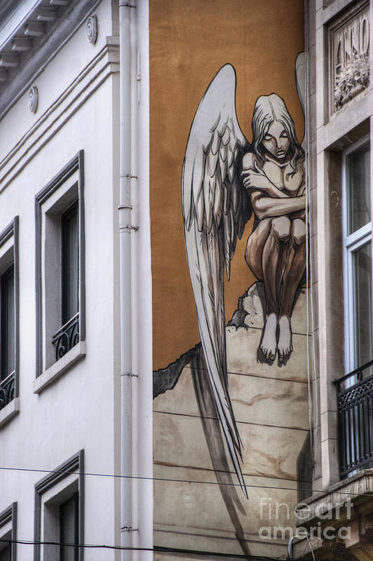 Architectural Feature Poster featuring the photograph The Angel by Juli Scalzi