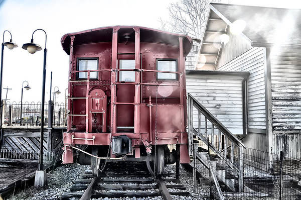 Ice Poster featuring the photograph The Caboose by Bill Cannon