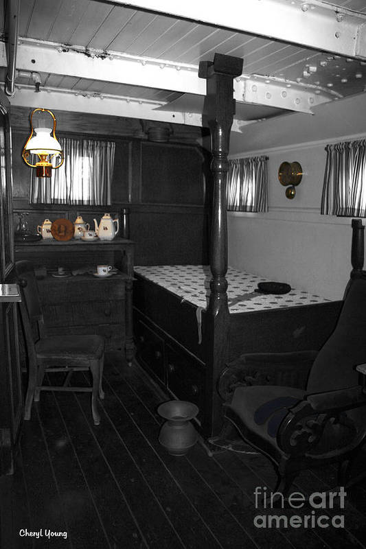 Rooms Poster featuring the photograph The Captains Quarters by Cheryl Young
