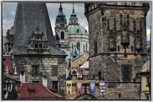 Ancient Poster featuring the photograph The Depths Of Prague by Joan Carroll