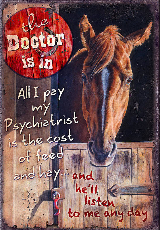 Michelle Grant Poster featuring the painting The Doctor Is In by JQ Licensing