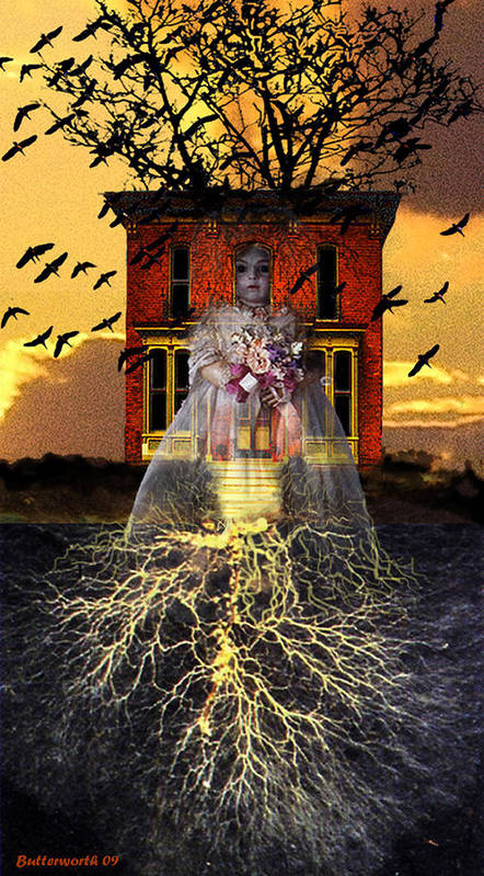Surrealism Poster featuring the digital art The Doll House by Larry Butterworth