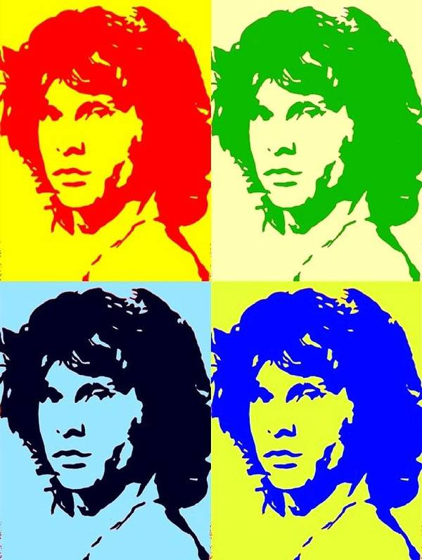 Jim Morrison Poster featuring the painting The Doors And Jimmy by Robert Margetts