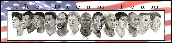 The Dream Team Poster featuring the painting the Dream Team by Tamir Barkan
