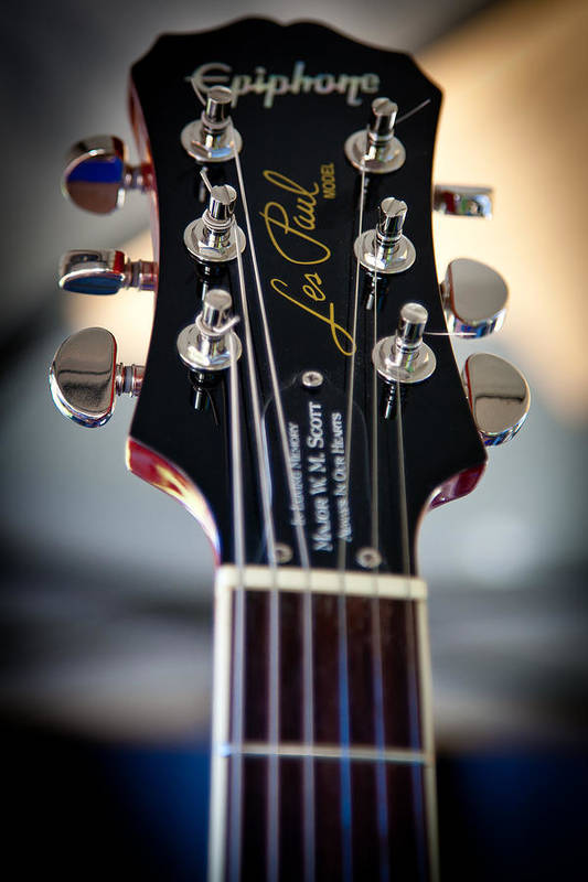 The Epiphone Les Paul Guitars Poster featuring the photograph The Epiphone Les Paul Guitar by David Patterson