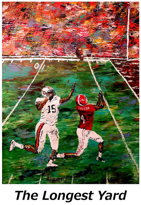 Alabama Poster featuring the painting The Longest Yard Named by Mark Moore