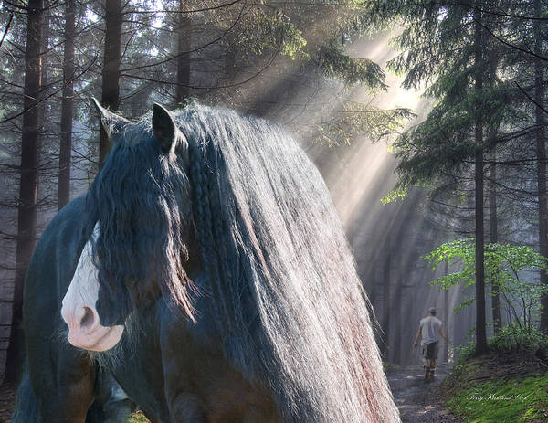 Equine Poster featuring the photograph The Parting Of Two Earthly Souls by Terry Kirkland Cook