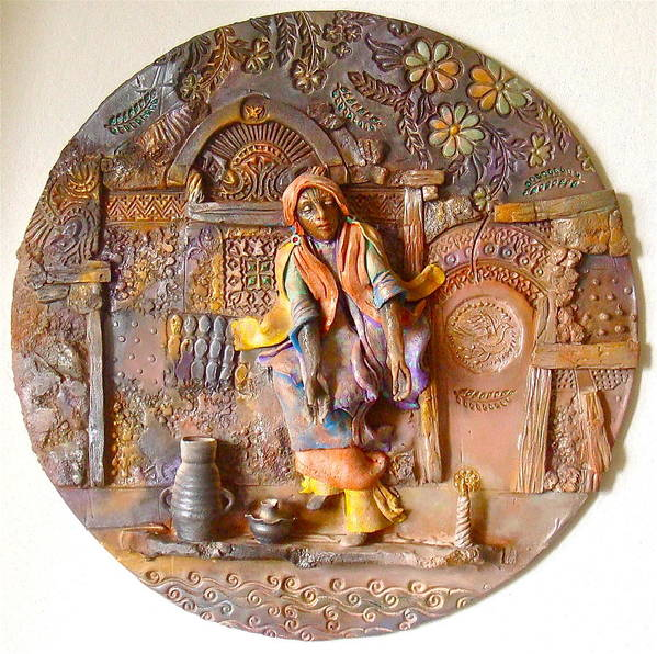 Religious Poster featuring the ceramic art The Persecution Dance by Gary Wilson