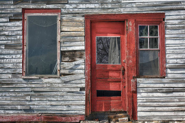 The Red Door Poster featuring the photograph The Red Door by Eric Gendron