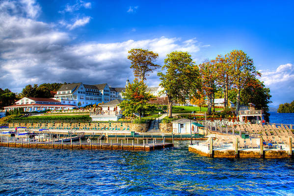 Adirondack's Poster featuring the photograph The Sagamore Hotel On Lake George by David Patterson