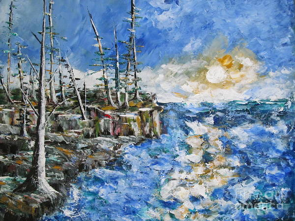 Pallette Knife Painting Poster featuring the painting The Storm by Beverly Livingstone