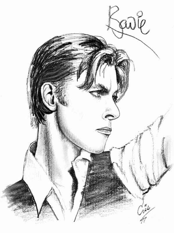 David Bowie Poster featuring the drawing The Thin White Duke by Cristophers Dream Artistry