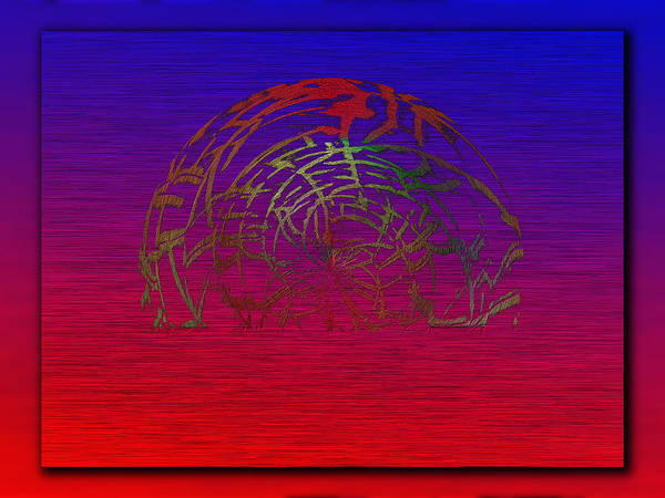 Abstract Poster featuring the digital art The Transformation by Tim Allen
