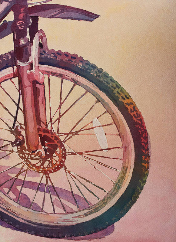 Wheel Poster featuring the painting The Wheel In Color by Jenny Armitage