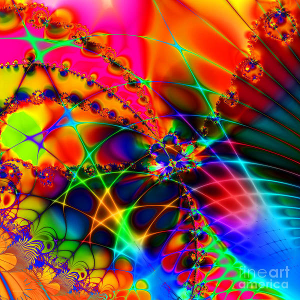 Fractal Poster featuring the digital art There Are Places I Remember 20130510 Square V1 by Wingsdomain Art and Photography