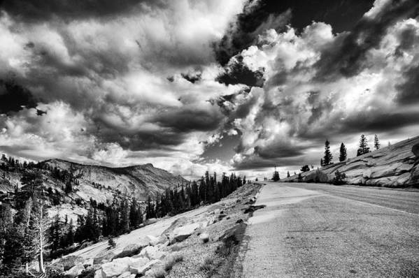 Road Poster featuring the photograph Tioga Pass by Cat Connor