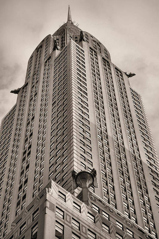 Towehrysler Building Poster featuring the photograph Towering Bw by JC Findley