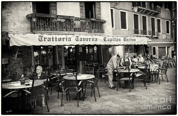 Venice Poster featuring the photograph Trattoria In Venice by Madeline Ellis