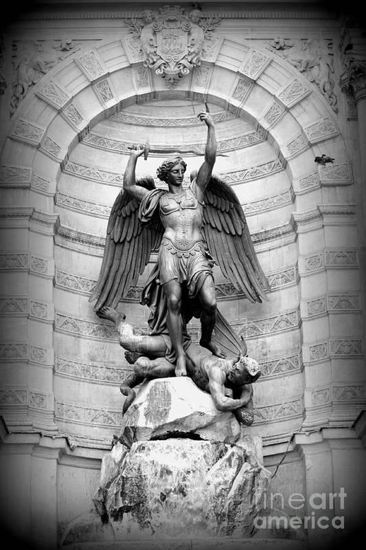 Saint Michael Poster featuring the photograph Triumphant Saint Michael by Carol Groenen