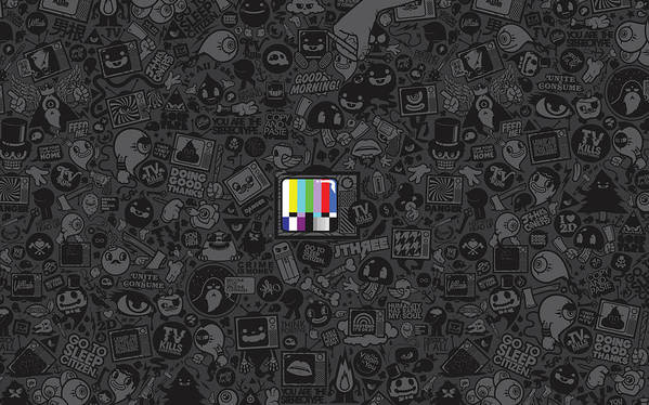 Tv Poster featuring the photograph Tv Noise by Gianfranco Weiss