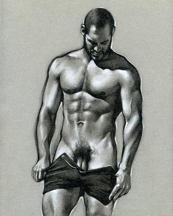 Male Poster featuring the drawing Under The Sun 3 by Chris Lopez