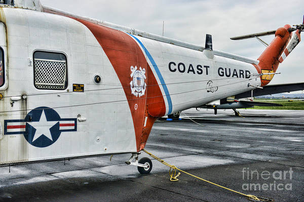 Paul Ward Poster featuring the photograph Us Coast Guard Helicopter by Paul Ward