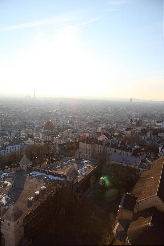 And Poster featuring the photograph View From Basilica Of The Sacred Heart Of Paris - Sacre Coeur - Paris France - 011314 by DC Photographer