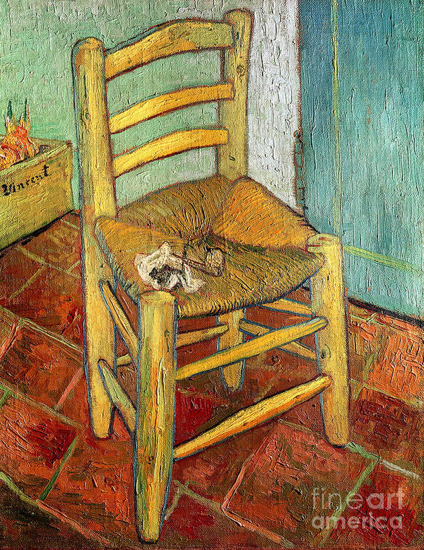 Impressionist Poster featuring the painting Vincent's Chair 1888 by Vincent van Gogh