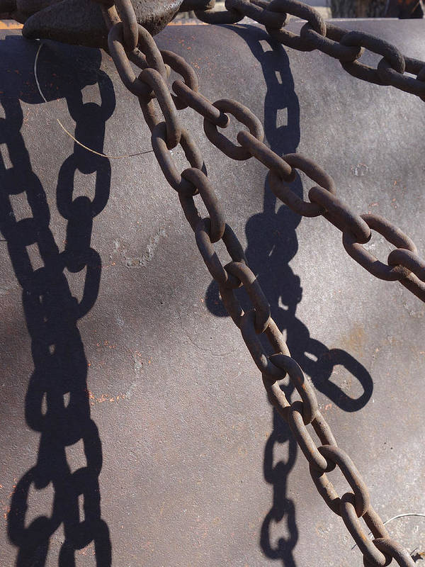Chain Poster featuring the photograph Vintage Metal Chains by Ann Powell