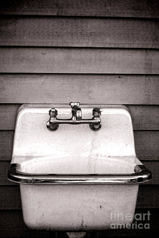 Vintage Poster featuring the photograph Vintage Sink by Olivier Le Queinec
