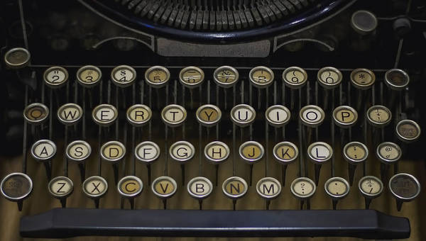 Underwood Typerwriter Poster featuring the photograph Vintage Typology by Heather Applegate