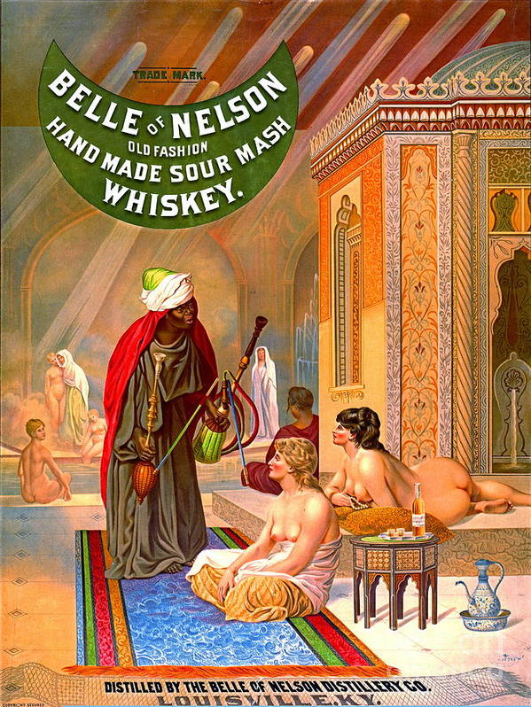 Vintage Whiskey Ad 1883 Poster featuring the photograph Vintage Whiskey Ad 1883 by Padre Art