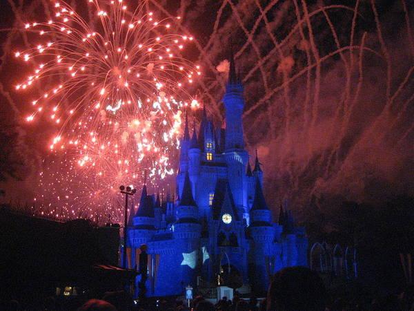 Walt Poster featuring the photograph Walt Disney World Resort - Magic Kingdom - 121271 by DC Photographer