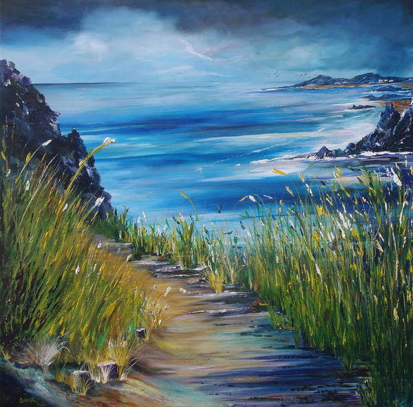 Ireland Poster featuring the painting West Coast Of Ireland by Conor Murphy