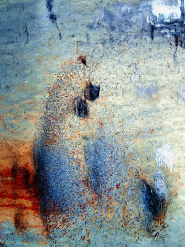 Abstract Poster featuring the photograph wet by Tom Druin
