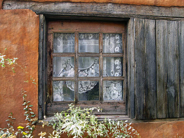 Window Poster featuring the photograph Window At Old Santa Fe by Kurt Van Wagner