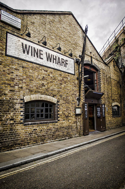 Wine Poster featuring the photograph Wine Wharf by Heather Applegate