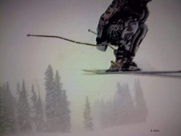 Skiing Poster featuring the digital art Winter Flight by George Pedro