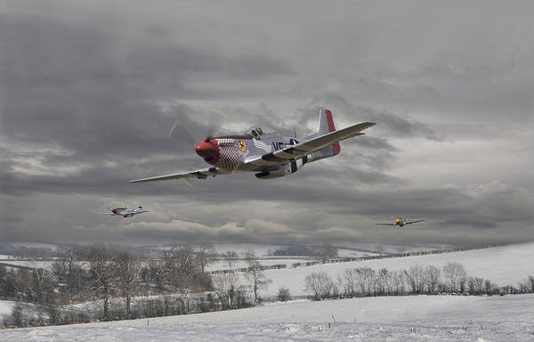 Aircraft Poster featuring the digital art Winter Freedom by Pat Speirs