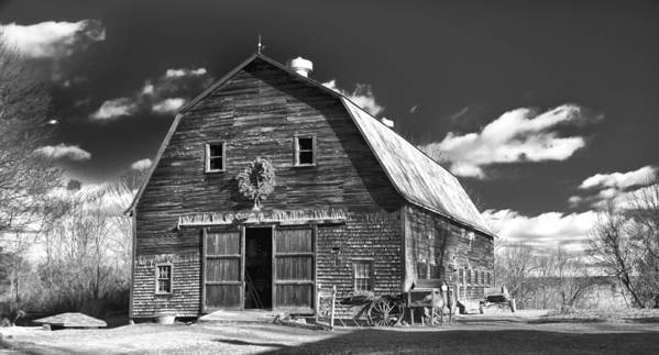 Barn Poster featuring the photograph Winterberry Farm by Guy Whiteley