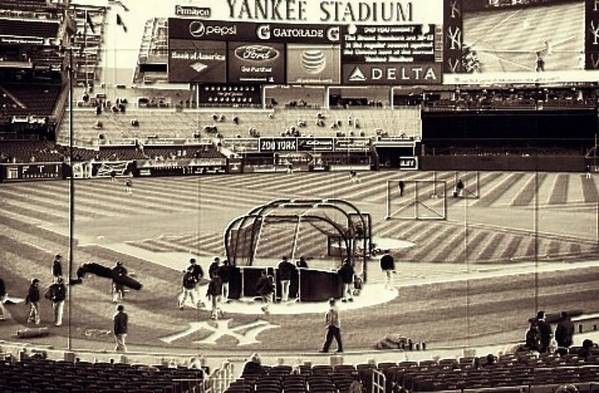 Cdkirven Poster featuring the mixed media Yankee Stadium by CD Kirven