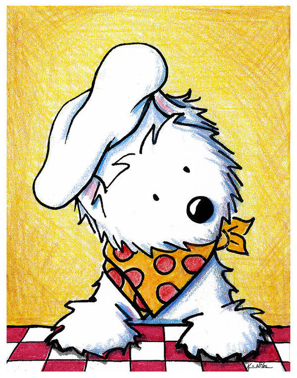 Westie Poster featuring the painting You Wanna Pizza Me by Kim Niles