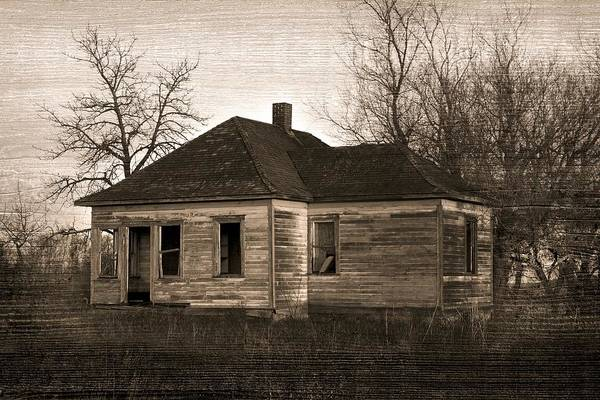 Architectural Poster featuring the photograph Abandoned Farm House by Richard Wear