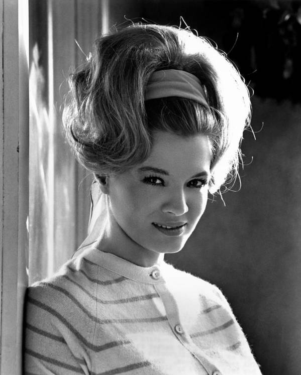 1960s Hairstyles Poster featuring the photograph Angie Dickinson, Ca. 1966 by Everett