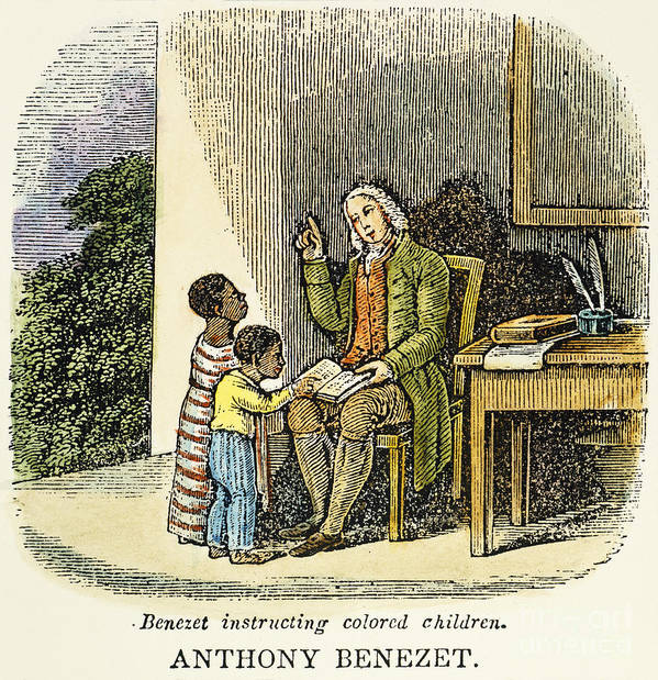 18th Century Poster featuring the photograph Anthony Benezet (1713-1784) by Granger