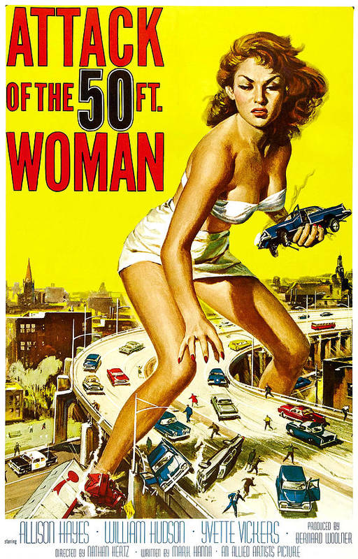 1950s Poster Art Poster featuring the photograph Attack Of The 50 Foot Woman, Allison by Everett