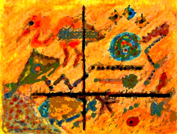 Abstract Poster featuring the mixed media Bliss Is A Constant by Patricia Januszkiewicz