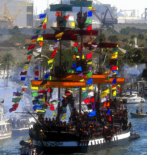 Art Poster featuring the painting Colors Of Gasparilla by David Lee Thompson