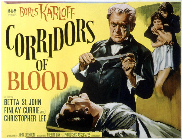 1950s Poster Art Poster featuring the photograph Corridors Of Blood, Boris Karloff, 1958 by Everett